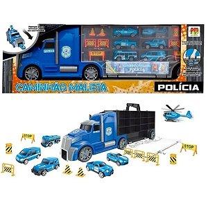 Caminhão Maleta Porta carrinhos Polícia ou serviços