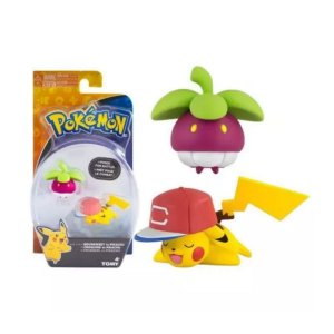 Boneco Pokemon Figuras de Ação - Bounsweet Pikachu - Sunny