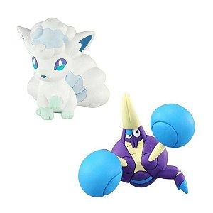 Pokémon - Figura de Ação - Alolan Vulpix Vs Crabrawler - Sunny