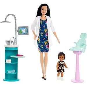 Boneca Barbie Dentista Com Acessórios Morena - Mattel