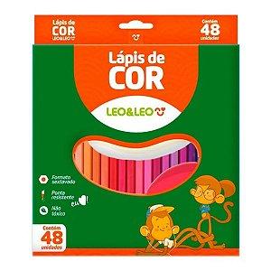 Lápis De Cor 48 Cores - Leo&Leo