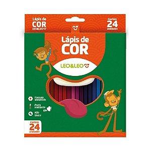 Lápis de Cor 24 Cores - Leo&Leo