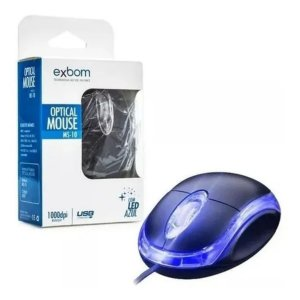 Mouse Optical Ms-10 Led Azul