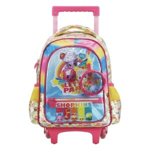 Mochila com Rodas Shopkins Rainbow Party Grande - Xeryus