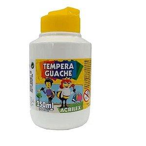 Tempera Guache 250 ml Branca -Acrilex