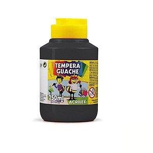 Tempera Guache 250 ml Preta -Acrilex