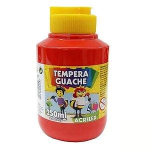 Tempera Guache 250 ml vermelho fogo -Acrilex