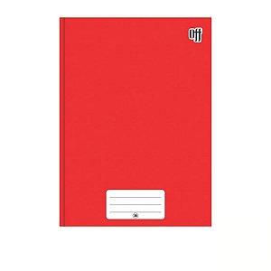 Caderno Brochura 1/4 Capa Dura Vermelho 48 folhas Off