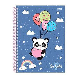 Caderno Capa Dura 96 Folhas Panda - São Domingos