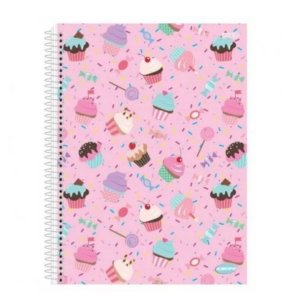 Caderno 10 Matérias Cupcake - Kbom