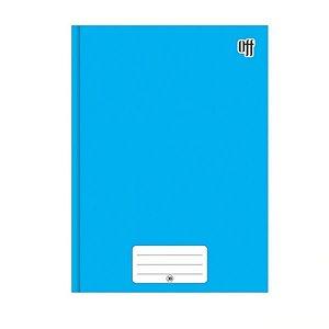 Caderno Brochura 1/4 Capa Dura Azul 96 folhas Off