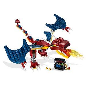 Dragão do Fogo 234 Pcs - Lego Creator