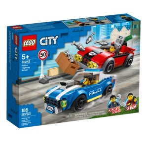 Detenção Policial na Autoestrada 185 Pcs - Lego City