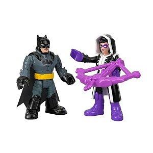 Boneco Batman E Huntress - Imaginext Dc Super Friends Mattel