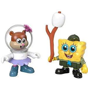 Boneco Sandy E Bob Esponja - Imaginext - Mattel Brinquedos