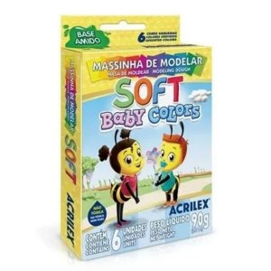 Massinha de Modelar Soft Baby Colors - Acrilex