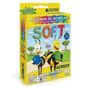 Massinha De Modelar Soft 6 Cores - Acrilex
