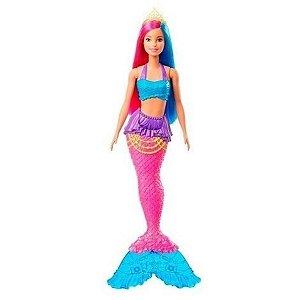 Boneca Barbie Sereia Dreamtopia Cabelo Rosa e Azul - Mattel