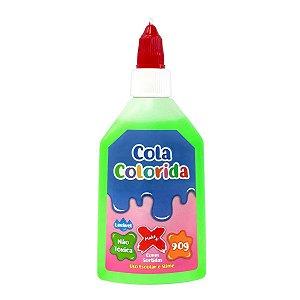 Cola Colorida Escolar/Slime Verde - Make+