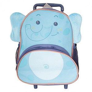 Mochila Infantil Escolar Rodinhas Elefante - Clio