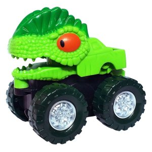 Kit Com 05 Carrinhos Dino Divertidos - Dm Toys