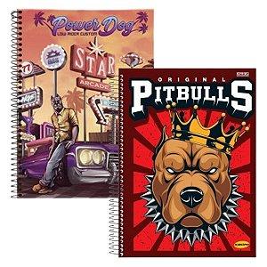 Kit Com 2 Cadernos Universitário Dogs Espiral 96 Folhas - São Domingos