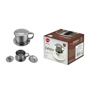 Cafeteira Vietnamita Inox Para 1 Xicara Linha Café - Click