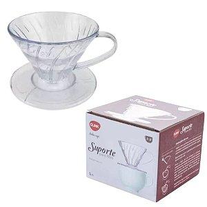 Suporte para Filtro Coador de Café Pequeno Transparente - Clink
