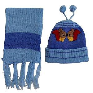 Kit De Inverno Infantil Touca e Cachecol