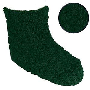 Kit Com 4 Meias Infantil Verde Escuro 5-8 anos- Classe