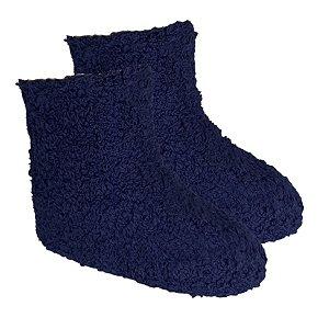 Kit Com 4 Meias Felpuda Infantil Azul Escuro 3-6 anos- Classe