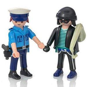 Playmobil Policial E Bandido 9218 - Sunny