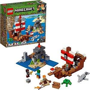 Lego Minecraft A aventura do navio pirata 386pçs - Lego