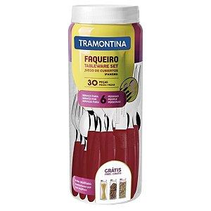 Faqueiro Tableware Set Ipanema 30Pçs Vermelho - Tramontina 788