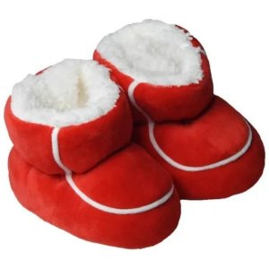 Pantufa Bebê Piccolo Forrada Vermelho - Laço Slippers