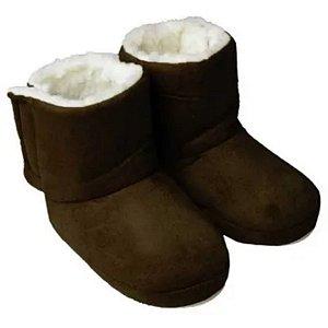 Pantufa Botinha Infantil Polar Forrada Com Solado Emborrachado - Laço Slippers