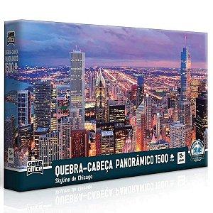 Quebra-Cabeça Panorâmico 1500 Peças - Skyline De Chicago - Toyster
