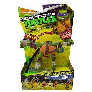 Boneco Tartarugas Ninja Action Leo BR289
