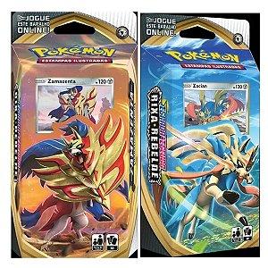 Pokemon 2 Deck Rixa Rebelde Zacian + Zamazenta Copag Cartas