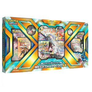 Pokemon Mega Box Sharpedo Ex Card Extra Grande Broche Moeda