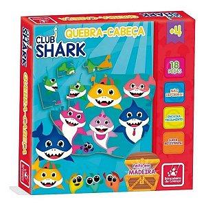 Quebra-cabeça de madeira educativo Club Shark 18 Peças