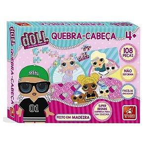 Quebra Cabeça Infantil Em Madeira Doll 108 Peças 2697