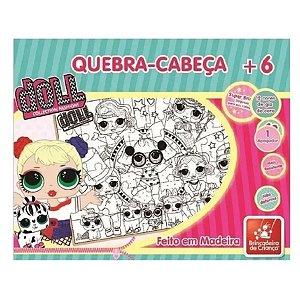 Quebra-cabeça  de madeira Doll 48 Peças Para Colorir