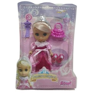 Boneca Mini Princesas Mágicas Rosa - Zoop Toys