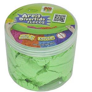 Areia Divertida Flocos Verde - Dm Toys