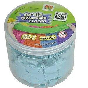 Areia Divertida Flocos Azul - Dm Toys