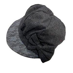 Boina Francesa Gorro Chapéu Cap Feminina com laço e renda