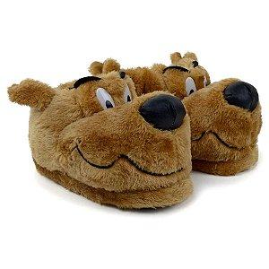 Pantufa Infantil estilo  Scooby Doo Bege Stuf  antiderrapante 27 ao 34