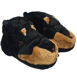 Pantufa Cachorro Preto com Solado emborrachado Stuf 35 ao 42