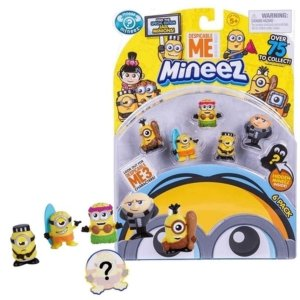 Kit Minions Com 6 Personagens - Mineez Minions Dtc